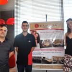 Cleyton Rosa, supervisor de Alimentos e Bebidas, Daniel Leone, supervisor de Recepção e Patrícia Carvalho, gerente de Marketing da Vert
