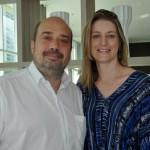 Michael Nagy, do Rio CVB e Patrícia Carvalho, da Vert Hotéis