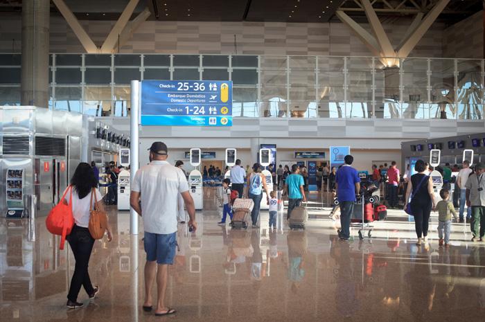 O aeroporto passou por reformas em 2016 para atender até 25 milhões de pessoas anualmente