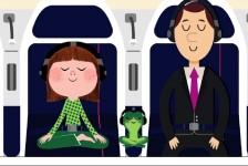 Air France lança meditação a bordo para passageiros com medo de voar