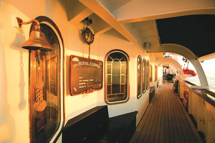 Detalhe do deck do maior veleiro do mundo (Foto: divulgação)