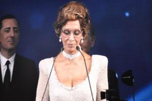 Sophia Loren discursa na cerimônia de inauguração