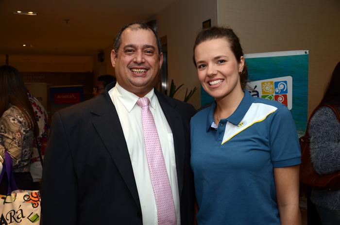 Adriano Gomes e Bruna Castro. da CVC