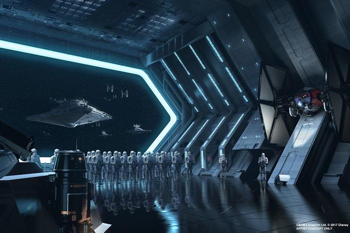 Arte conceitual da nova atração de Star Wars que deve ser inaugurada em 2019