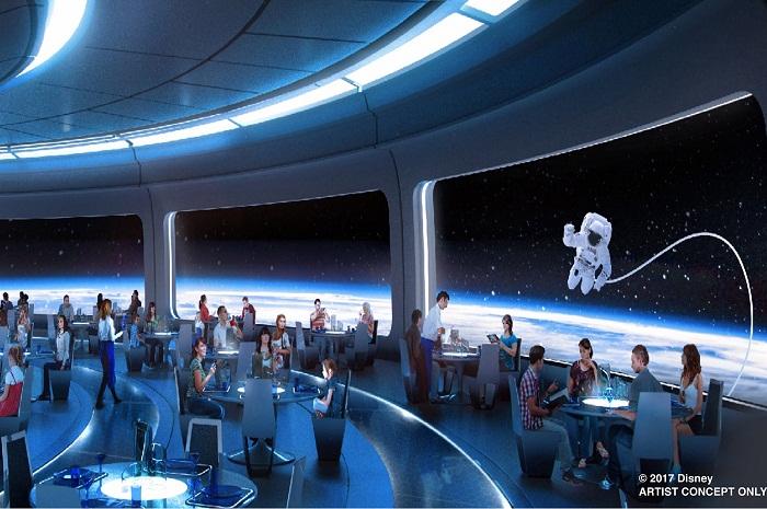Arte conceitual do novo restaurante que promete dar uma experiência imersiva do espaço para os visitantes
