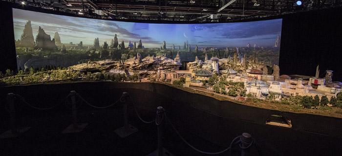 Maquete está exposta no D23 Expo, que acontece em Anaheim, na Califórnia