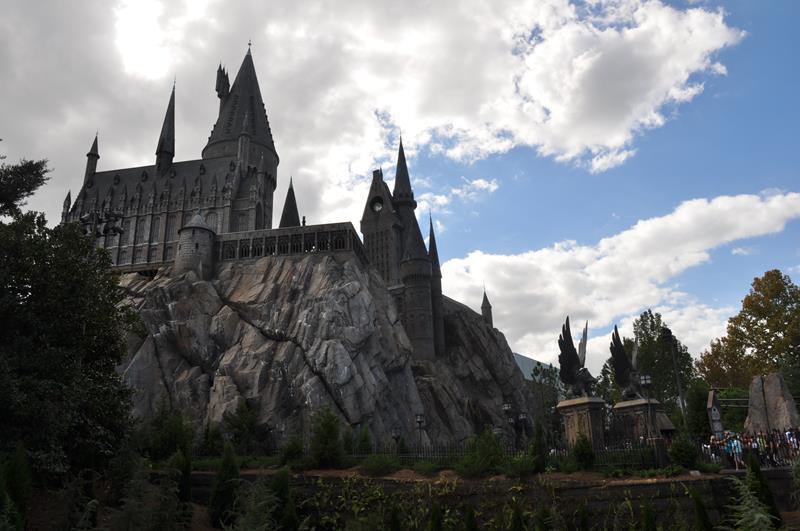 O castelo de Hogwarts, em Hogsmeade
