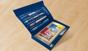 Azul distribuirá kit de canetas em voos internacionais