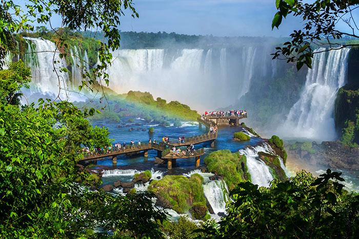 As Cataratas do Iguaçu são um dos destinos mais visitados de todo o país