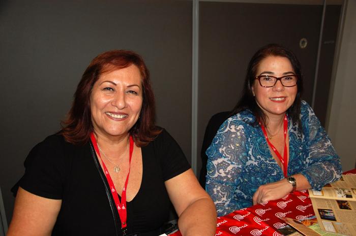 Adriana Diniz e Roxana Iriarte, da PTS Perú