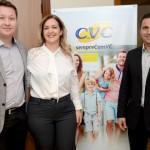Anselmo Breves, Marta Lobo e Rogério Mendes, da CVC