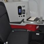 Assento da classe executiva da Avianca Brasil
