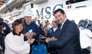 MSC e Ficantieri comemoram primeira flutuação do MSC Seaview na Itália