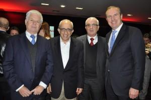 Guillermo Sanfuentes, do Travel Security, com José Efromovich, Tarcísio Gargioni e Mark Thiermann, da Avianca