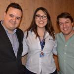 Heitor Soares, da Europlus, Amanda Rousset, da Trend, e Charles Franken, da casa do Agente