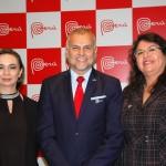 Hugo Flores, cônsul do Peru no Rio de Janeiro dom Milagros Uchoa e Fanny Thivierge, da PromPerú