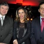 Iran Marcos, do Banco do Brasil, com Lara Buttice e André Mussili, da Câmara Chileno-Brasileira de Comércio