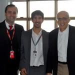 João Pedro Pita, do GRU, entre Elton Alvarenga e José Efromovich, da Avianca