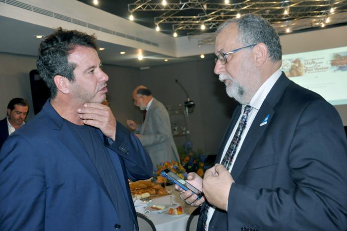 Lisandro Manu Marques e Enrique Martin-Ambrosio, diretor de Desenvolvimento Internacional do Grupo Globalia, e diretor geral da Air Europa no Brasil