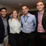 Lucas Esteves, Marta Lobo, Ricardo Coelho, e Attia Filho, da CVC