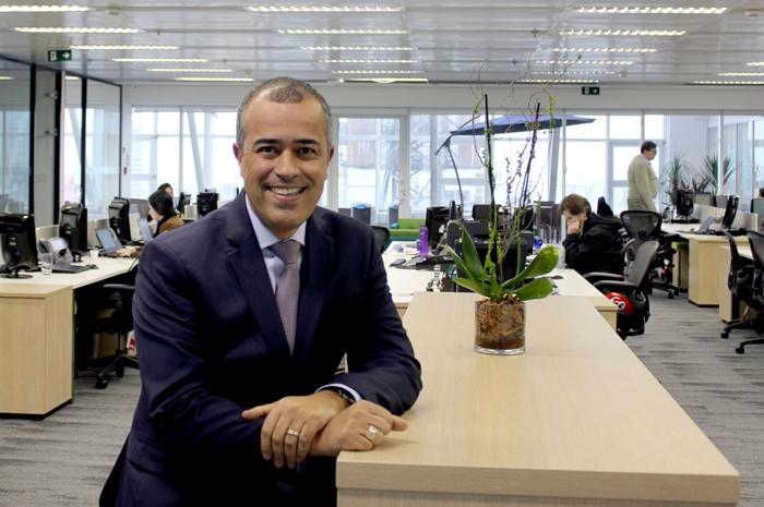 Luis Carlos Vargas no novo escritório da Travelport em São Paulo