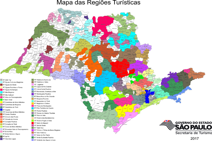 6d2fab999 Estado de São Paulo tem 432 cidades no mapa turístico do MTur