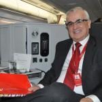 O VP de Marketing da Avianca Brasil, Tarcísio Gargioni, também estava a bordo