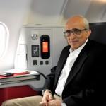 O fundador da Avianca, José Efromovich, embarcou para o voo inaugural