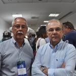 O presidente da TurisAngra, Carlos Henrique, o Peninha com o prefeito de Angra, Fernando Jordão