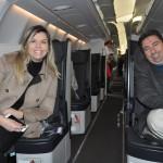 Os convidados Mariana Azevedo, da MMTGapnet, e Marcelo Paolillo, da Flytour Viagens