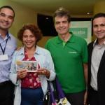 Ricardo Coelho, da CVC, Chirleide Nunes, da Bela Terra Turismo, Paulo Henrique Pires, da Localiza, e Rogério Mendes, da CVC