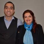 Thiago Martinez e Sheila Pereira, da Lusanova