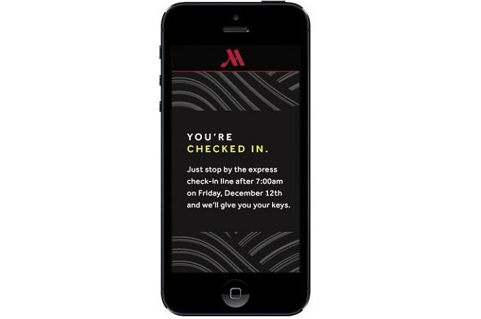 Toalhas adicionais, troca de roupa de cama e informações sobre despesas são algumas das opções que podem ser acessadas por meio do aplicativo do Marriott, que pode ser baixado nas app stores