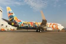 Avião da Gol ganha arte inspirada em músicas do Rock in Rio