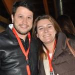 Adonai Arruda Filho, da BWT, e María Corinaldesi, da Rail Europe