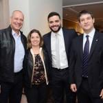 Alexandre Schimdt e Cláudia Tavares, da Tilli Viagens, Ricardo Rocha e Ignacio Palacios, da MSC Cruzeiros