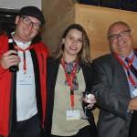 Andy Nef, da Swiss Travel System, Paola Kreutzer, da FRT, e Jose Cunha, da Tumlare