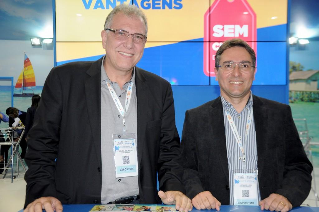 Carlos Eduardo Pereira, diretor da Bancorbrás e Junior Lins, diretor-executivo da Agência de Viagens