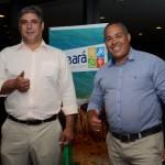 Renato Motta, da Edvaldo Moreira Turismo, e Edvaldo Moreira, da Imóveis & Turismo