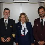 Comandante Ramirez, Cristina Silva Melo e Diogo Senna, representando a nova geração de comissários