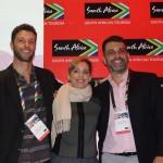 Diogo Caldeira, Tati Isler e Marcelo Marques, da South African Tourism