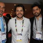 Franklin Gomes, da SAA, Rodrigo Sacomani, da Viajar pelo mundo, e Fernando Garcia, da SAA