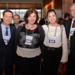 Glauco Laperuta, Fernanda Ziliotti, Lisete Baccaro, do Travel Inn, e Jose Ozanir, do Bourbon Hotéis
