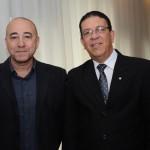 Guilherme Costa, da Conceito Viagens, e Newton Santos, da MSC Cruzeiros
