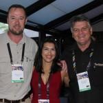 Gunther Strauss, da Shamwari, Daniela Lessio, da Marketing Collection, e Grant Fowlds, da Amakhala