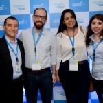 Ivan Blanco, da Aerolíneas, André Ormonde e Julyane Oliveira, da Al Mundo, e Mariana Campos, da Aerolíneas