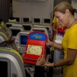 Jogos da década foram atração durante o voo