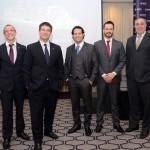 Jonas Dahmer, Ignacio Palacios, Bruno Cordaro, Eduardo Mariani, e Roberto Affonseca, da MSC Cruzeiros