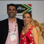 Marcelo Marques, gerente de Relação de Trade para o Brasil, e Tati Isler, representante do órgão de promoção turística da África do Sul para o Brasil