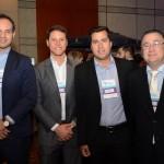 Marcus Simoes, Emanuel Albuquerque, Paulo Frias e Olivier Hick, da Accor Hotels